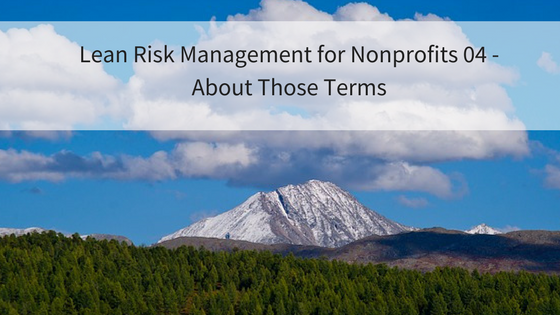 Lean Risk Management for Nonprofits 04 – About Those Terms